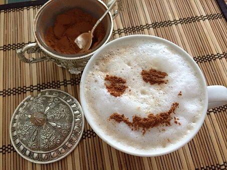 Coffee, Cinnamon, Smile, Breakfast, Closeup, Drink