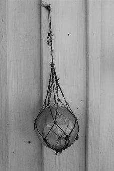 Glass Ball, Glasflöte, Fiskekula, Float, Glass, Buoy
