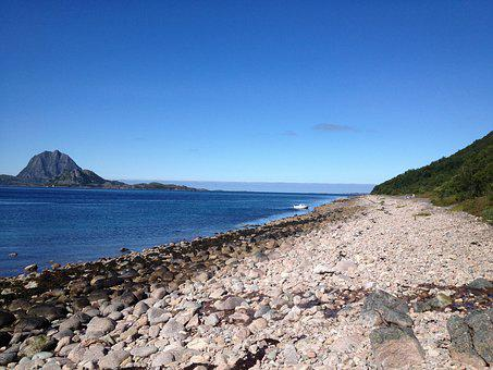 Beach, Pebble, Arctic, Summer, Outdoors, Heaven