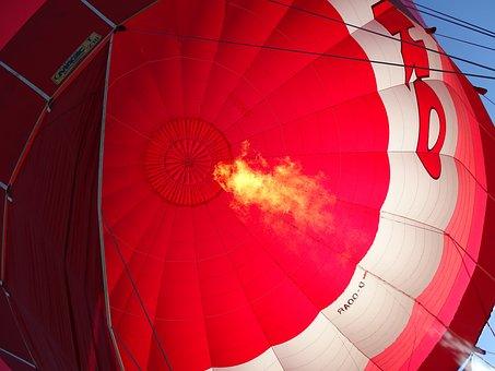 Hot Air Balloon, Gas Flame, Hot Air Balloon Ride