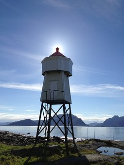 Lighthouse, Sun, Sunset, Sea, The Nature Of The, Sky