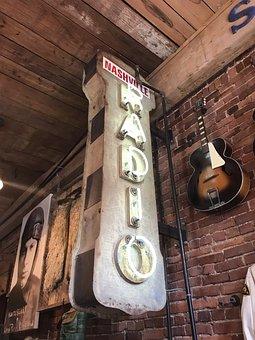 Radio, Antique, Tennessee, Nashville, Music, Old