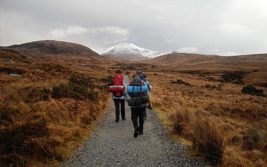 Journey, Travel, Hike, Path, Ireland, Backpack