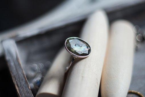 Ring, Labrador, Natural Stone, Silver, Finger Ring