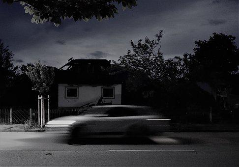 Night, Auto, Long Exposure, Architecture, Road