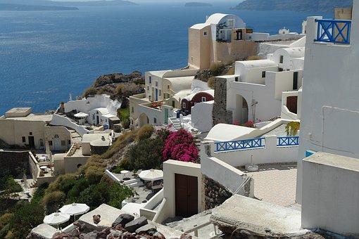 Santorini, View, Greece, Travel, Europe, Island, Summer