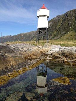 Lighthouse, Reflection, Sea, Boat Life, The Coastal