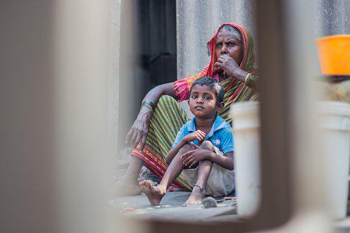 Grandma, Slum, Indian, Street, People, Woman