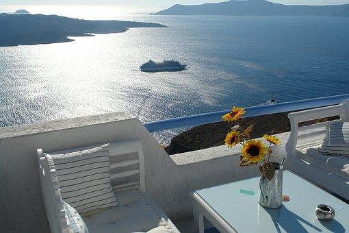 Santorini, Greece, Island, Sea, Summer, Vacation