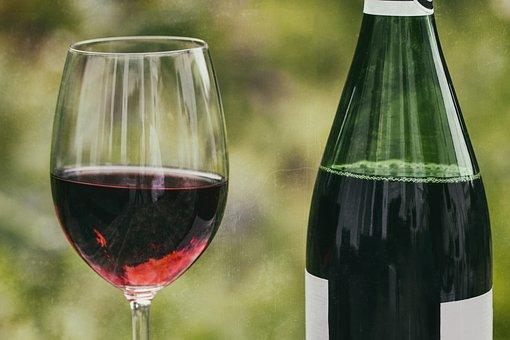 Wine, Retro, Wine Glass, Wine Bottle, Red Wine, Glass