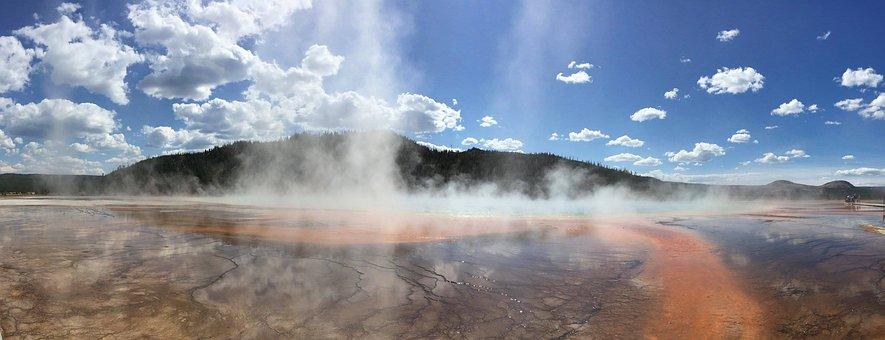 Yellowstone, Park, National, Wyoming, Nature, Landscape