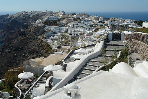 Santorini, Perivolas, Accomodation, View, Greece