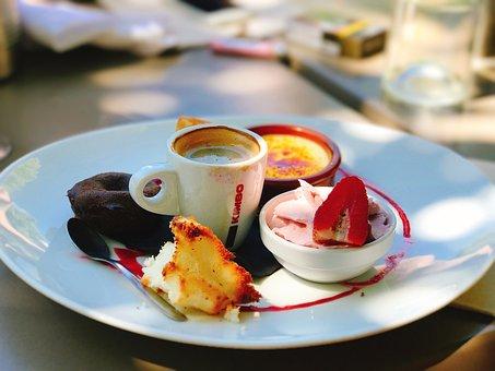 Café Gourmand, Coffee, Dessert, Espresso, Restaurant