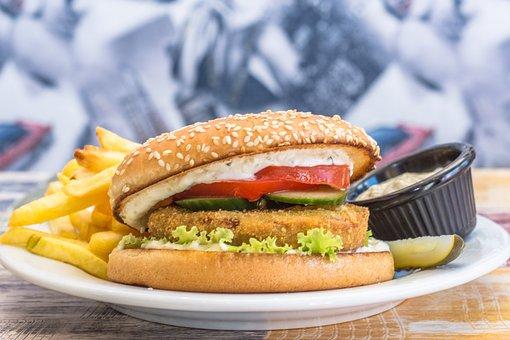 Hamburger, Burger, Food, Sandwich, Meat, Fast, Meal