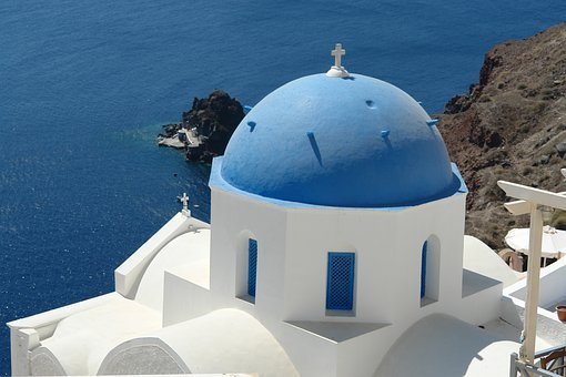 Santorini, Greece, View, Greek, Travel, Island, Sea