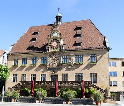 Town Hall, Heilbronn, Historically, Clock, Clock Face