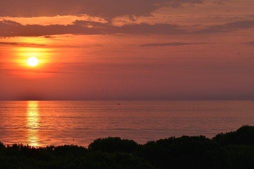 Sunrise, Morning, Sun, Back Light, Morgenstimmung, Mood