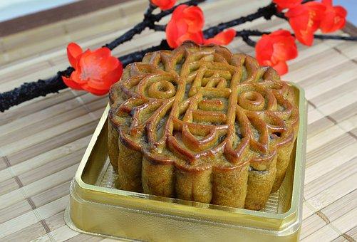 Mooncake, Mooncakes, Lotus Filling, Pastry, Sweets
