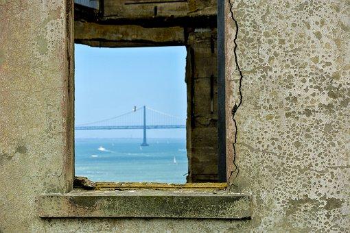 View, Window, Bridge, Oakland Bay Bridge, Ruin, Leave