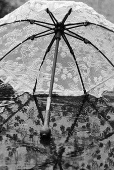 Umbrella, Parasol, Water, Rain, Reflection, Summer