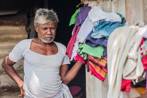 Grandpa, Indian, Slum, People, Mature, Grandfather