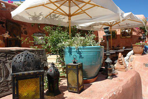 Garden, Greece, Coffee, Shop, Rustic, Travel, Summer