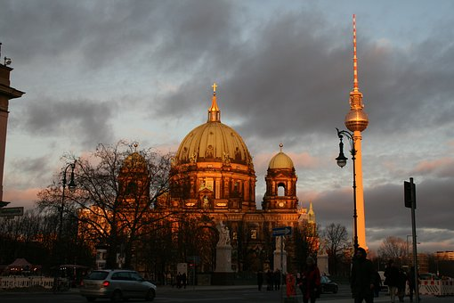 Berlin, Dom, Tv Tower, Berlin Cathedral, Architecture