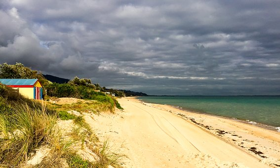 Clouds, Sand, Beach, Bay Beach, Port Phillip Bay, Sea