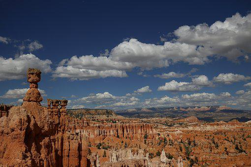 Bryce Canyon, United States, Cloud, Sky, Nature