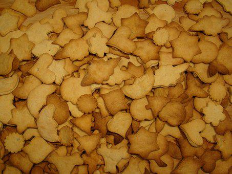 Cookie, Bake, Baking Tray, Pastries, Christmas Cookies