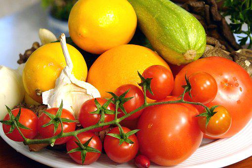 Fruits, Vegetables, Food, Green, Tomato, Healthy, Diet