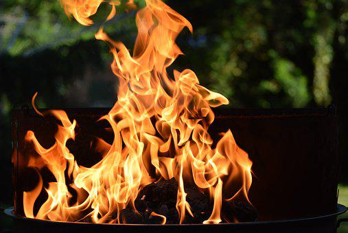 Fire, Grill, Flame, Burn, Charcoal, Heat, Fuel