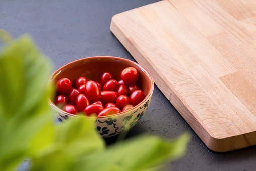 Cutting Board, Vegetables, Herbs, Plant, Tomatoes