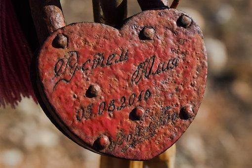 Heart, Love, Padlock, Romantic, Rusty, Weathered