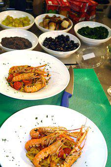 Shrimps, Food, Meal, Seafood, Healthy, Restaurant, Dish