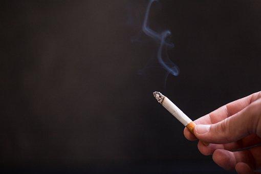 Cigarette, Smoking, Smoke, Hand, Dark, Background