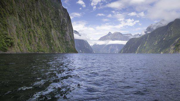 Milford Sound, New Zealand, South Island, Water, Blue