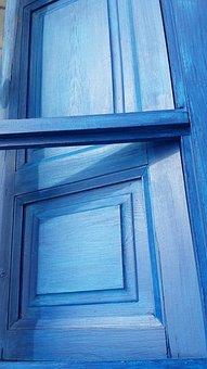 Window, Blue, Wood, Angles, Pictures, Geometry, Indigo