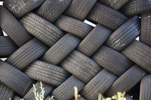 Auto Tires, Black, Stacked, Auto