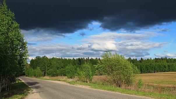 Menacing Sky, Before The Storm, Contrast, Blue Sky