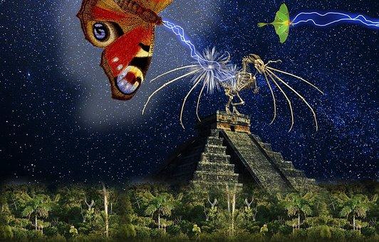 Fantasy, Science Fiction, Mayan, Galaxy, Universe