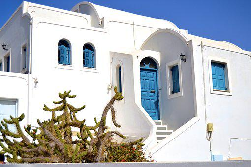 Greece, Santorini, House, Greek, Sea, Oia, Vacation