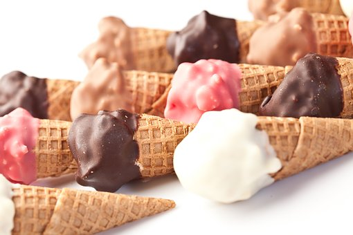 Ice Cream, Ice Cream Cones, Chocolate Ice Cream