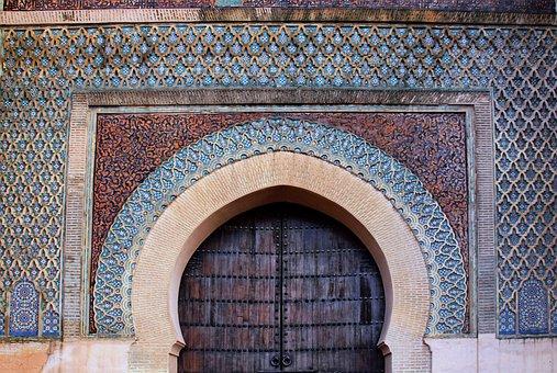 Portal, Moroccan, Tiles, Decoration, Muslim, Geometric