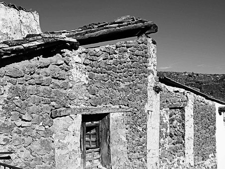 Old House, Old Facade, Ruin, Window, House Abandoned