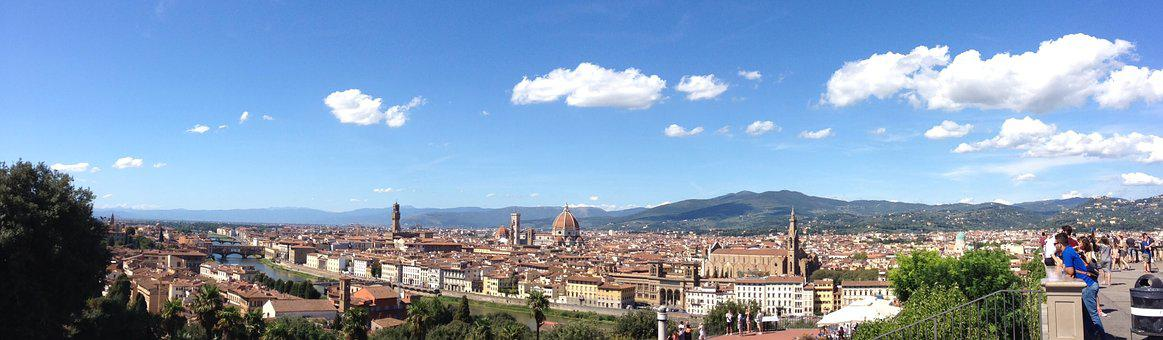 Italy, Plaza Miguel Angel, Florence