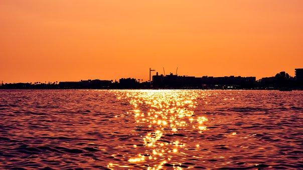 Sunset, Light Path, Sunlight, Sunshine, Orange, Scenery