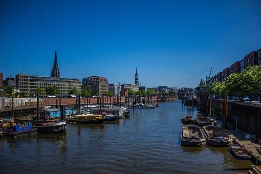 Hamburg, Speicherstadt, Channel, Waterways