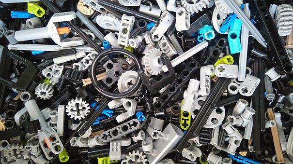 Lego, Technic, Gear, Azure, Grey, Technical, Technology