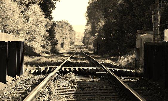 Railway, Horizon, Distance, Travel, Track, Railroad